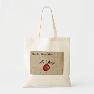 Mr Darcy Love Letter Tote Bags