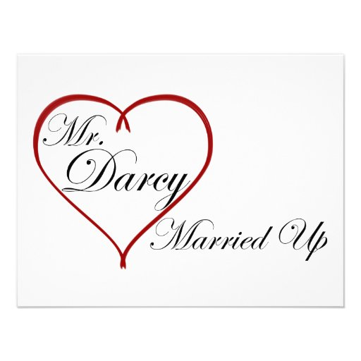 Mr. Darcy Married Up Personalized Invitations