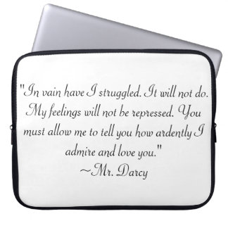 Mr. Darcy quote Laptop Sleeve