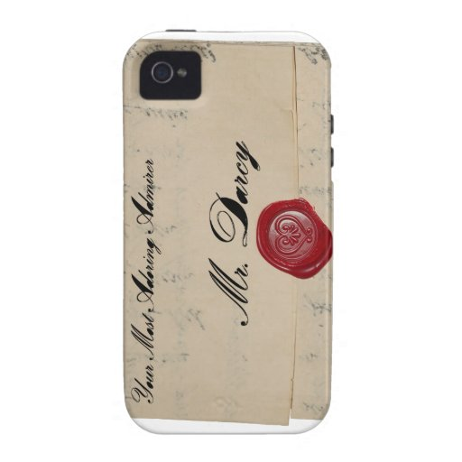 Mr Darcy Regency Love Letter Case-Mate iPhone 4 Covers