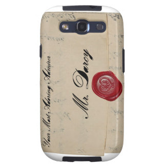 Mr Darcy Regency Love Letter Samsung Galaxy SIII Cases