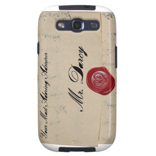 Mr Darcy Regency Love Letter Samsung Galaxy SIII Cases