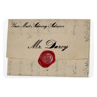 Mr Darcy Regency Love Letter Magnet