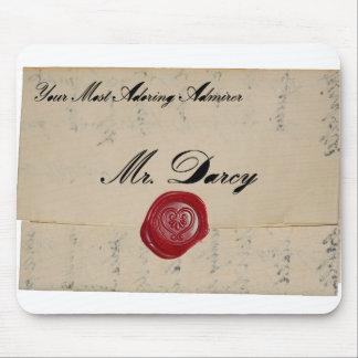 Mr Darcy Regency Love Letter Mousepad