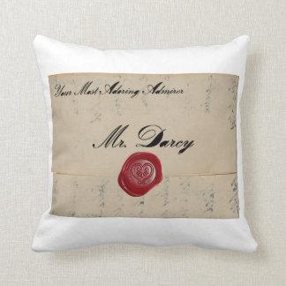 Mr Darcy Regency Love Letter Throw Pillow