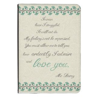 Mr Darcy to Elizabeth Bennet Kindle Touch Case