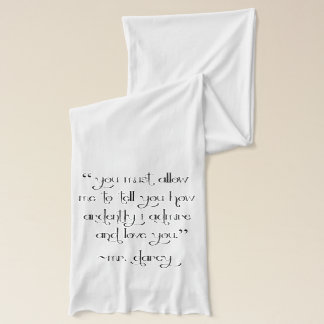 Mr. Darcy's Proposal Scarf Jane Austen