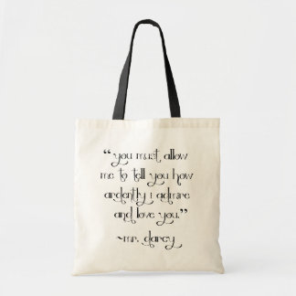 Mr. Darcy's Proposal tote bag Pride and Prejudice