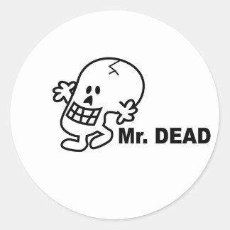 Mr Dead Classic Round Sticker
