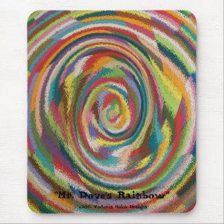 """Mr. Dove's Rainbow"" Mouse Pad"