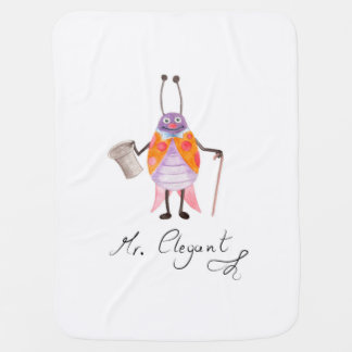 """Mr. Elegant"" Baby Blanket"