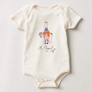 """""""Mr. Elegant"""" Baby Organic Bodysuit"""