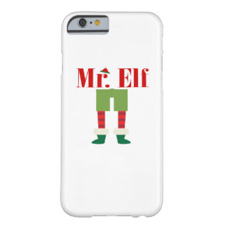 Mr. Elf Matching Couple Christmas Barely There iPhone 6 Case