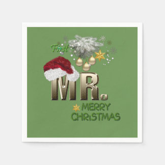 MR.First Christmas Paper Napkin