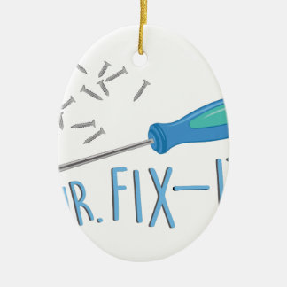 Mr Fix-it Ceramic Oval Ornament