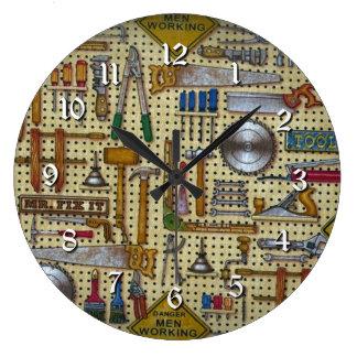Mr. Fix It Handyman Tools Wall Round Clock