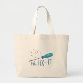 Mr Fix-it Large Tote Bag