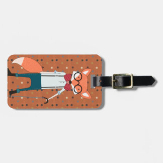 Mr Fox cool luggage tag