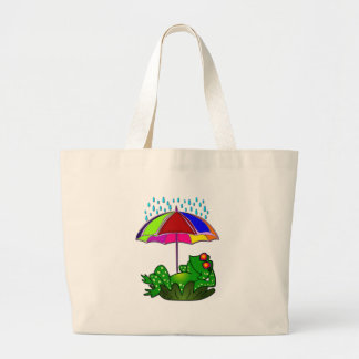 Mr Frog Large Tote Bag