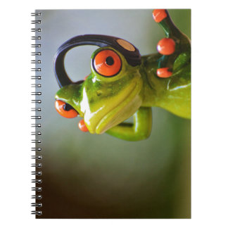 Mr. Frog with Headphones Notebooks