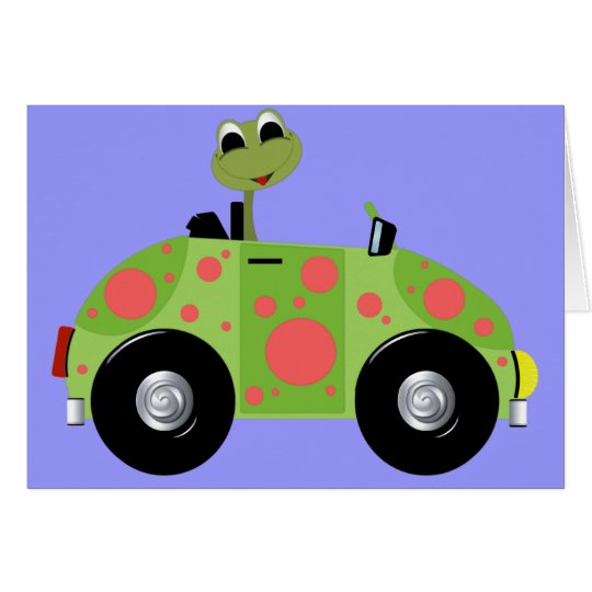 Mr Froggy and His Spotted Car Card