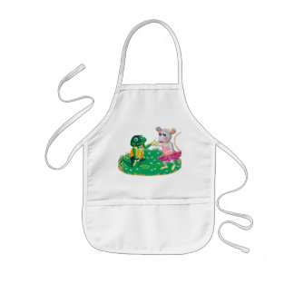 Mr Froggy woos Miss Mousie Kids Apron