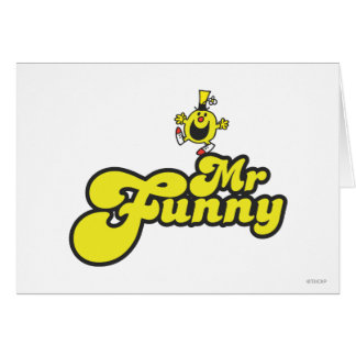 Mr Funny Logo 1 2 Greeting Card
