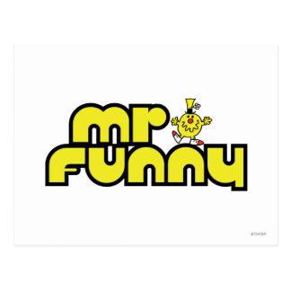Mr Funny Logo 3 Postcard