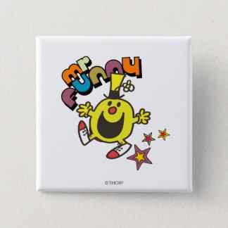 Mr. Funny | Shining Stars 2 Inch Square Button