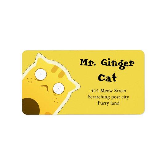 Mr. Ginger Cat address labels