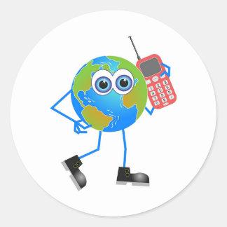 Mr Global Round Sticker