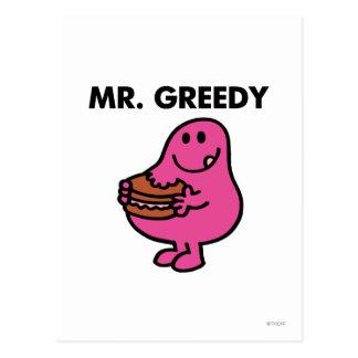 Mr. Greedy Eating Cake Postcard