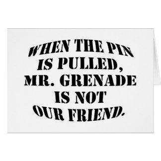 Mr. Grenade Card