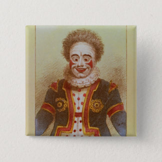 Mr Grimaldi as Clown 2 Inch Square Button