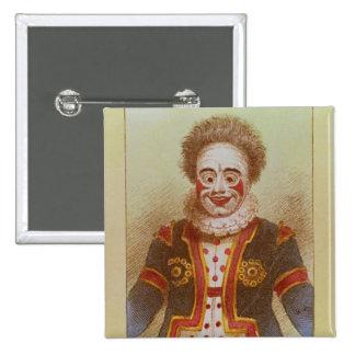 Mr Grimaldi as Clown 2 Inch Square Button