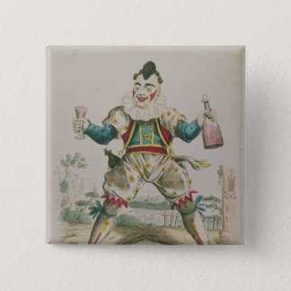 Mr. Grimaldi as Clown 2 Inch Square Button