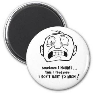 """Mr. Grimly """"I don't want to know!"""" Refrigerator Magnet"""