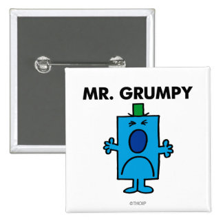 Mr. Grumpy | Frowning Face 2 Inch Square Button