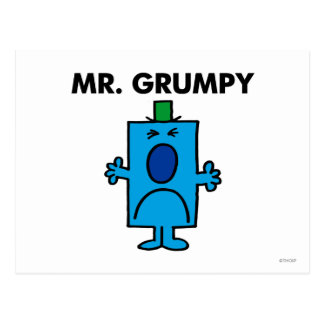 Mr. Grumpy | Frowning Face Postcard