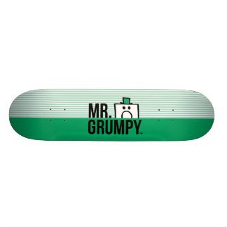 Mr Grumpy   Peeking Head Over Name Skate Boards