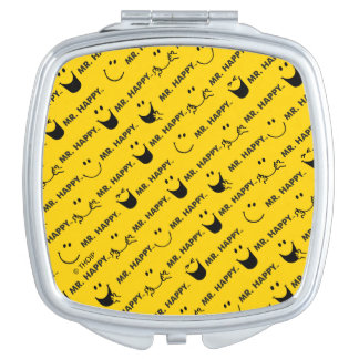 Mr Happy | All Smiles Pattern Compact Mirror