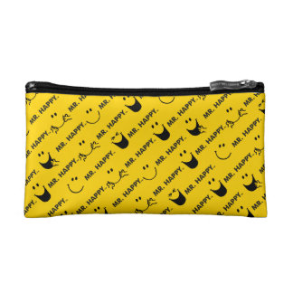 Mr Happy | All Smiles Pattern Cosmetics Bags
