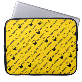 Mr Happy   All Smiles Pattern Laptop Sleeve