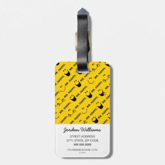 Mr Happy | All Smiles Pattern Luggage Tag