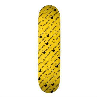 Mr Happy | All Smiles Pattern Skate Board