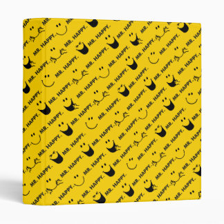 Mr Happy | All Smiles Pattern Vinyl Binder