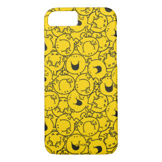 Mr  Happy   Batch of Yellow Smiles Pattern iPhone 7 Case