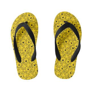 Mr  Happy | Batch of Yellow Smiles Pattern Kid's Flip Flops