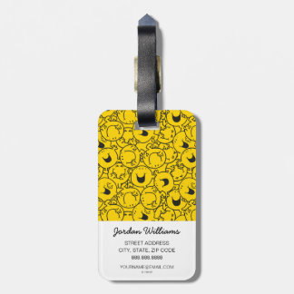 Mr  Happy | Batch of Yellow Smiles Pattern Luggage Tag