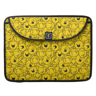 Mr  Happy   Batch of Yellow Smiles Pattern Sleeve For MacBook Pro